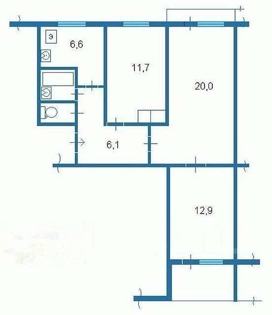 Продам 3-комнатную квартиру на котельникова, 26 - 3-комнатна.