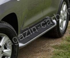 Подножки с подсветкой (пороги) Toyota Land Cruiser 200 2007-2017. Toyota Land Cruiser, GRJ200, GRJ76K, GRJ79K, J200, URJ200, URJ202, URJ202W, UZJ200...