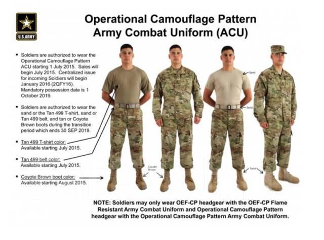 Армейский костюм Acu Ocp Scorpion W2 Оригинал США