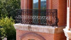 Балкон кованный, леера, перила кованные, металлические. Под заказ