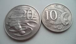 Австралия, 20 + 10 центов 1966