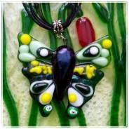 Кулон-Бабочка, шикарный подарок! ручная работа!