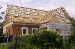 Ремонт кровли крыши стропильной системы мансарды по Приморью