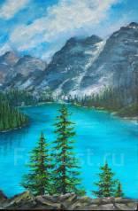 Картина маслом Альпийский пейзаж