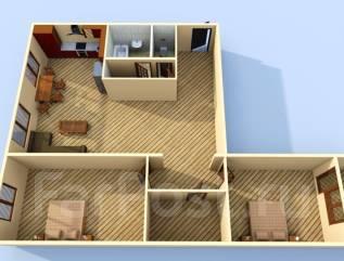 3-комнатная, улица Луговая 37. Луговая, агентство, 68 кв.м.