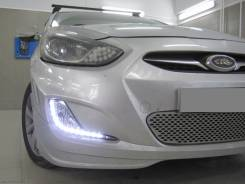 Фара противотуманная. Hyundai Accent Hyundai Solaris