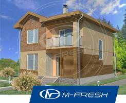 M-fresh Man-зеркальный (Проект дома для маленького участка). 100-200 кв. м., 2 этажа, 4 комнаты, бетон