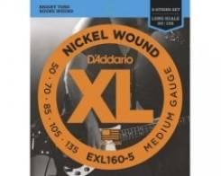 D`Addario EXL 160-5 XL Nickel Wound струны для 5-струнной бас-гитары