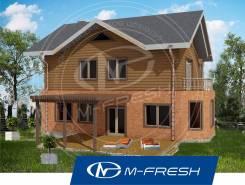 M-fresh Like! (Проект дома с солнечным эркером! Вам понравится! ). 200-300 кв. м., 2 этажа, 5 комнат, комбинированный