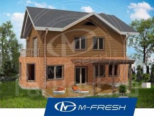 M-fresh Like! -зеркальный (Проект дома с террасой! Посмотрите! Лайк! ). 200-300 кв. м., 2 этажа, 5 комнат, комбинированный
