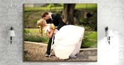 Печать Ваших свадебных фото на холсте