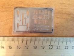 Эмблема (наклейка) Subaru All-Wheel Drive (метал)