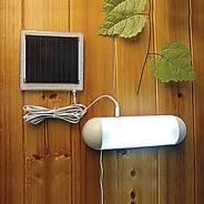 Светильники на солнечных батареях.