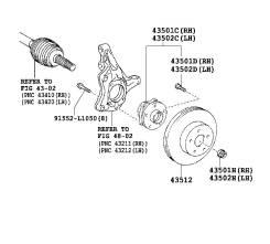 Подшипник ступицы. Toyota Prius, ZVW35, ZVW30L, ZVW30 Двигатель 2ZRFXE