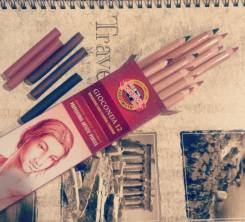 Сепия, Кохинор, карандаш