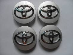 "Колпачки Toyota 55мм-57мм 60.1мм-62мм Заглушки на диски. Комп 4 штуки. Диаметр 16"", 1 шт."