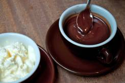 Горячий шоколад.