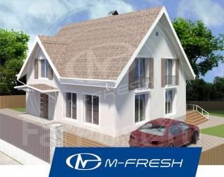 M-fresh Adrenaline! (Проект современного красивого дома с мансардой! ). 200-300 кв. м., 1 этаж, 4 комнаты, бетон