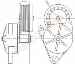 Натяжитель приводного ремня FORD FOCUS/MAVERICK/MAZDA 3/5/TRIBUTE SAT ОЕМ ST-1061459