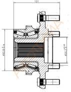 Ступица FR MMC PAJERO IV/MONTERO V87W/V97W 2006- (в сборе) ST-3880A015, 52KWH01, 52KWH01Y01, ST-52KWH01, 0482-V97F, 3880A015, M3880A015