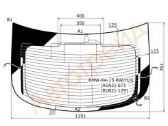 Стекло заднее (крышка багажника) с обогревом BMW X4 F26 2014-
