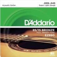 Струны для акустической гитары Super Light 9-45 D`Addario EZ890