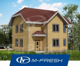 M-fresh Orlando (Проект уютного дома из бруса! Посмотрите сейчас! ). 100-200 кв. м., 2 этажа, 6 комнат, дерево