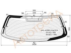 Стекло заднее с обогревом FIAT ALBEA (RUS) 02- 4D SAT SPG-ALBEA RW/H/X