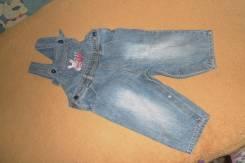 Полукомбинезоны джинсовые. Рост: 74-80, 80-86 см