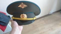 Фуражка военная, синий просвет.