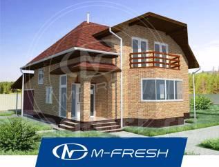 M-fresh Frankfurt (Готовый проект 1-этажного дома с мансардой! ). 100-200 кв. м., 1 этаж, 4 комнаты, кирпич