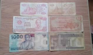 6 банкнот мира одним лотом