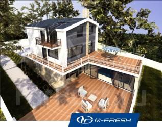 M-fresh Luxury gold (Проект современного дома с шикарной террасой! ). 300-400 кв. м., 2 этажа, 5 комнат, бетон