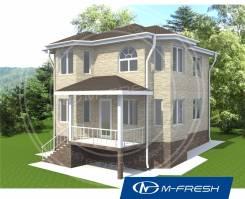 M-fresh Vlad style (Проект деревянного дома с эркерами). 100-200 кв. м., 2 этажа, 5 комнат, дерево