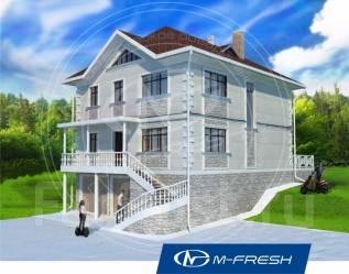 M-fresh Solomon (Отличный проект дома! Обязательно посмотрите! ). 300-400 кв. м., 3 этажа, 6 комнат, бетон