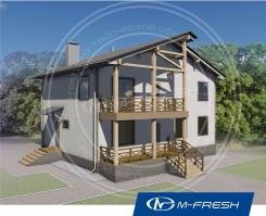 M-fresh Mister Robert (Проект дома с балконом). 200-300 кв. м., 2 этажа, 5 комнат, дерево