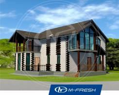M-fresh Saint-Petersburg style (Проект каменного дома с балконом! ). 200-300 кв. м., 2 этажа, 5 комнат, бетон