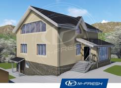 M-fresh Every day (Проект дома с цокольным этажем! ). 300-400 кв. м., 3 этажа, 6 комнат, дерево