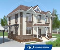 M-fresh Paradise (Проект 2-этажного компактного дома). 100-200 кв. м., 2 этажа, 5 комнат, бетон