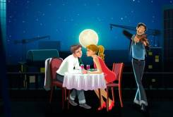 Организация романтических свиданий.