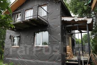 Новый дом и земельный участок в районе с. Карсаково-2. С.Корсаково-2, р-н Индустриальный, площадь дома 85 кв.м., скважина, электричество 15 кВт, отоп...