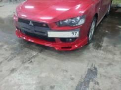 Накладка на бампер. Mitsubishi Lancer X Mitsubishi Lancer