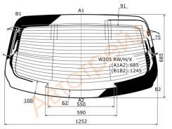 Стекло заднее с обогревом MERCEDES BENZ C-CLASS (W205) 2014-