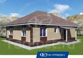 M-fresh Big Martin (Проект 1-этажного дома с 4 комнатами! ). 100-200 кв. м., 1 этаж, 4 комнаты, каркас