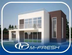 M-fresh Tiёsto! (Проект современного дома с инверсионной кровлей). 200-300 кв. м., 2 этажа, 4 комнаты, бетон