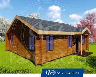 M-fresh Optimist (Проект компактного дома для 6 человек! Посмотрите! ). 100-200 кв. м., 1 этаж, 4 комнаты, дерево