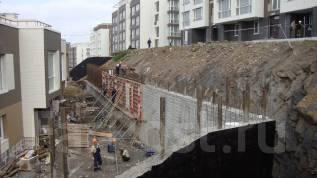 Подпорные стенки (ограждающие конструкции). Буровые работы.