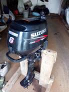 Suzuki. 6,00л.с., 4х тактный, бензин, нога S (381 мм), Год: 2007 год