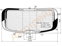 Стекло заднее (крышка багажника) с обогревом PORSCHE MACAN 14- XYG MACAN RW/H/X