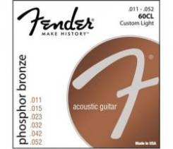 Fender Strings NEW Acoustic 60CL Phosphor Bronze Balanced 11-52 струны